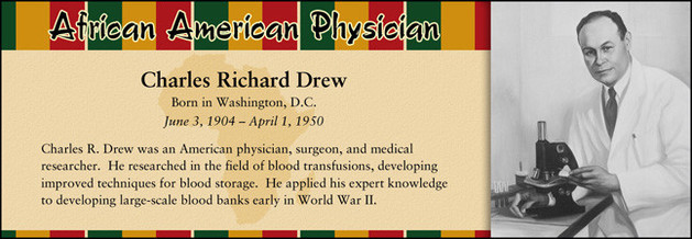 Charles Richard Drew, African American Physician
