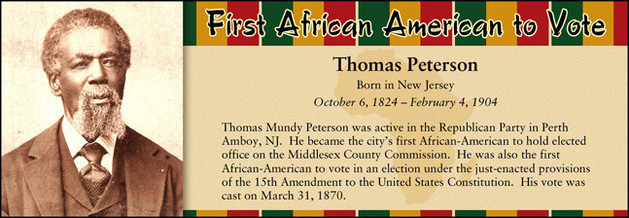 Thomas Peterson, First African American to Vote