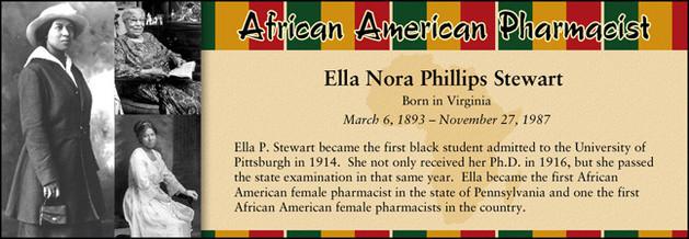 Ella Nora Phillips Stewart, African American Pharmacist